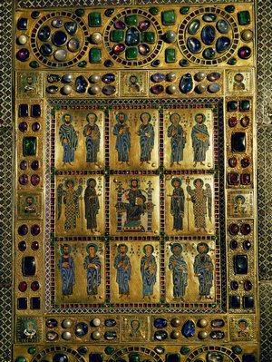 Antik könyv nemesfém borítása